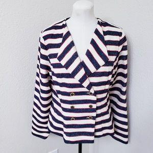 CAbi Striped Cruise Jacket/ Blazer size 10